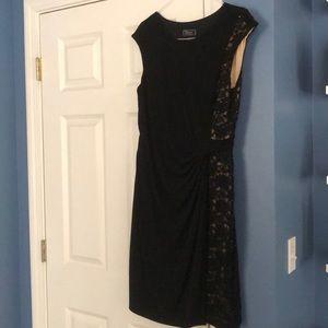 Black tan dress